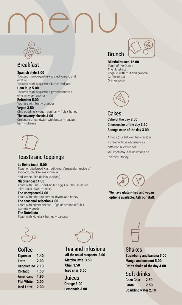Menú de Agrado Café